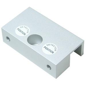 П-образна алуминиева планка за заключване на стъклена врата с брава-болт U200