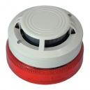 Спомагателна сирена с лампа, вградена в основа задейства се от монтирания отгоре детектор System Sensor IBSST-D-P01